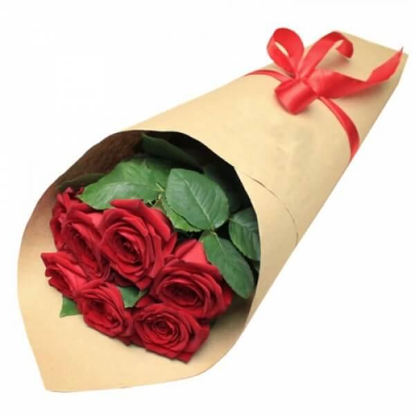 Rožių puokštė laiškelis