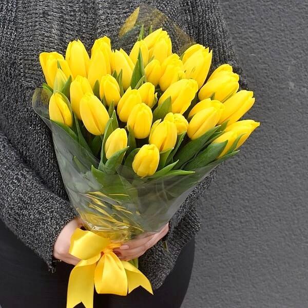 Puokštė Geltonos tulpės